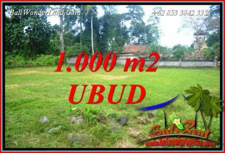 Exotic 1,000 m2 Land in Ubud Pejeng for sale TJUB728