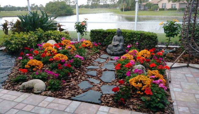 new patio garden