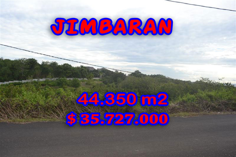 Spectacular Property for sale in Bali, land for sale in Jimbaran Bali  – 44.350 sqm @ $ 806