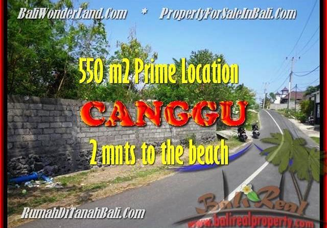 Canggu Batu Bolong BALI 550 m2 LAND FOR SALE TJCG159
