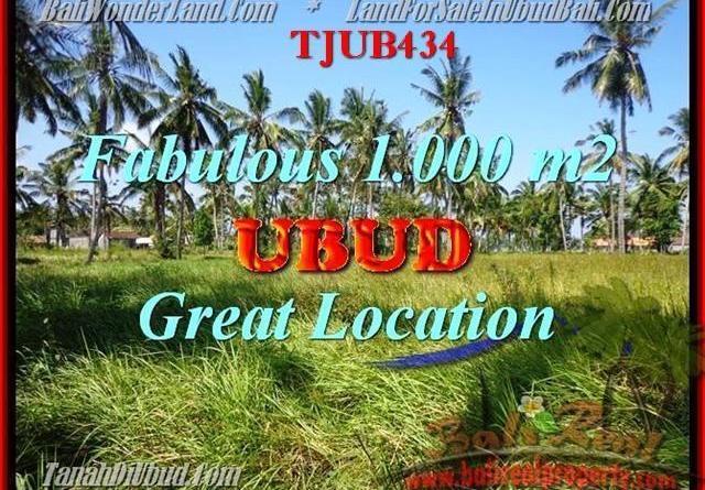 Beautiful 1,000 m2 LAND FOR SALE IN UBUD BALI TJUB434