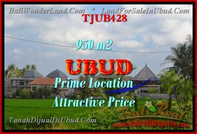 FOR SALE Magnificent 950 m2 LAND IN UBUD TJUB428