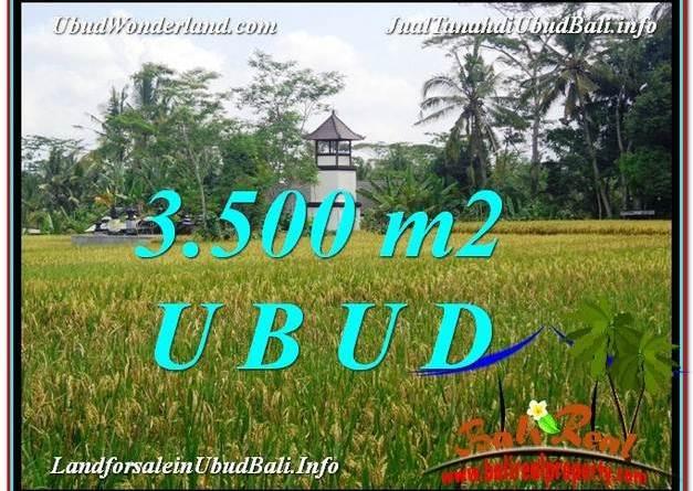 Beautiful UBUD BALI 3,500 m2 LAND FOR SALE TJUB596