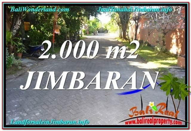 FOR SALE Beautiful 2,000 m2 LAND IN Jimbaran Uluwatu TJJI115