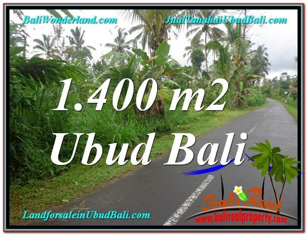 UBUD 1,400 m2 LAND FOR SALE TJUB612