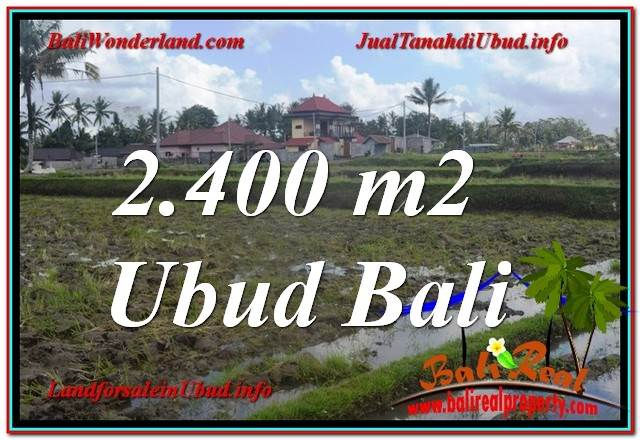 Beautiful 2,400 m2 LAND IN UBUD BALI FOR SALE TJUB620