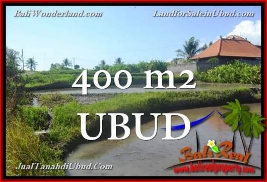 Magnificent 400 m2 LAND SALE IN UBUD BALI TJUB659