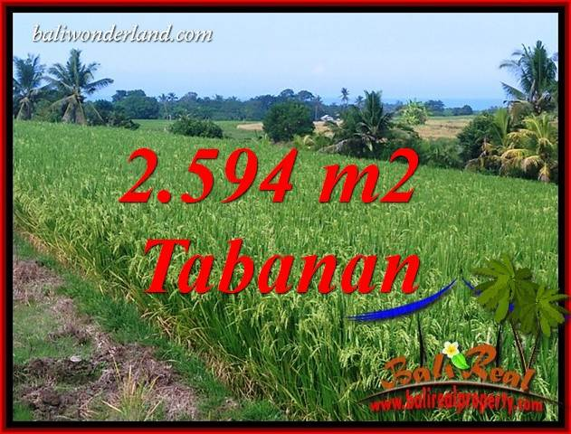 Exotic Property 2,594 m2 Land sale in Tabanan Selemadeg Bali TJTB414
