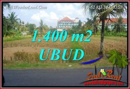 FOR sale Exotic 1,400 m2 Land in Ubud Bali TJUB709