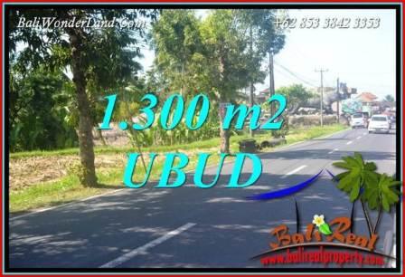 FOR sale Affordable 1,300 m2 Land in Ubud Bali TJUB713