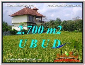 Exotic UBUD BALI 2,700 m2 LAND FOR SALE TJUB595