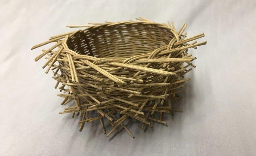 bird nest basket by Deb Hammond
