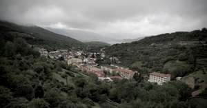 Blick auf banos de Montemayor