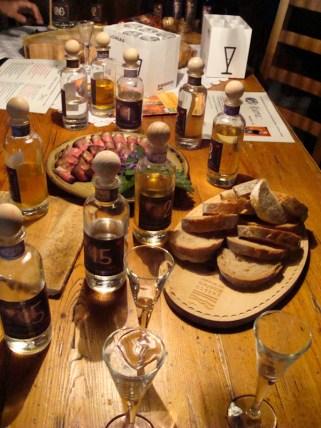 Aufgetischt in der Distilleria Beretta