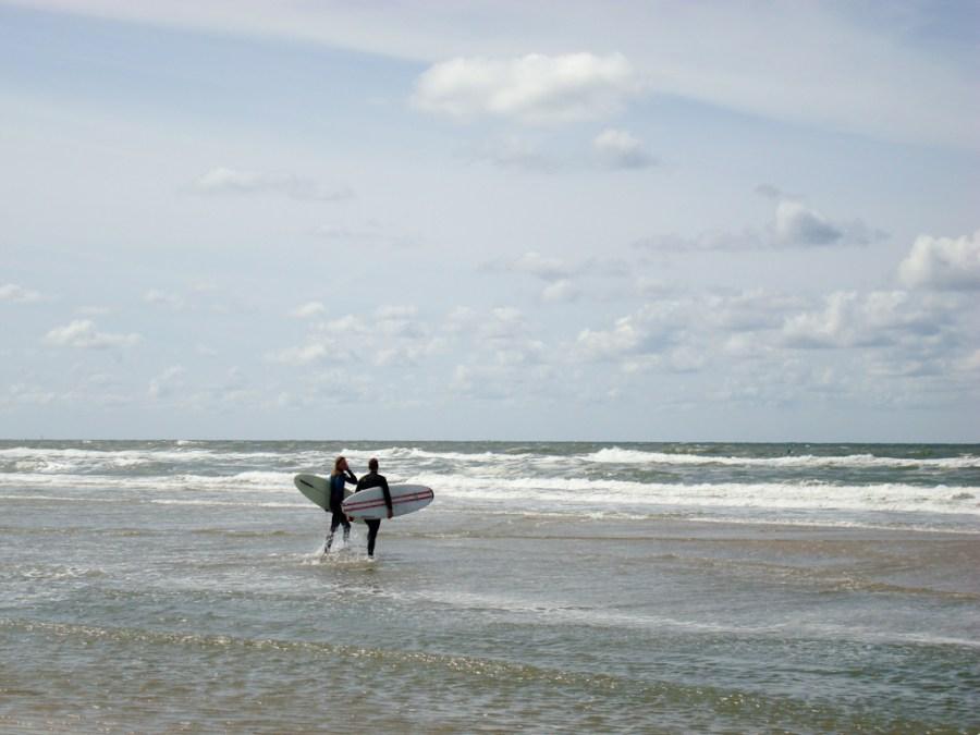 Surfen in der Nordsee