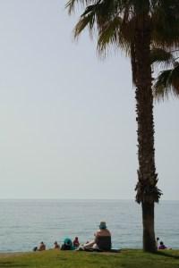 Am Strand von Málaga