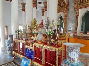 Im Innenraum des Tempels