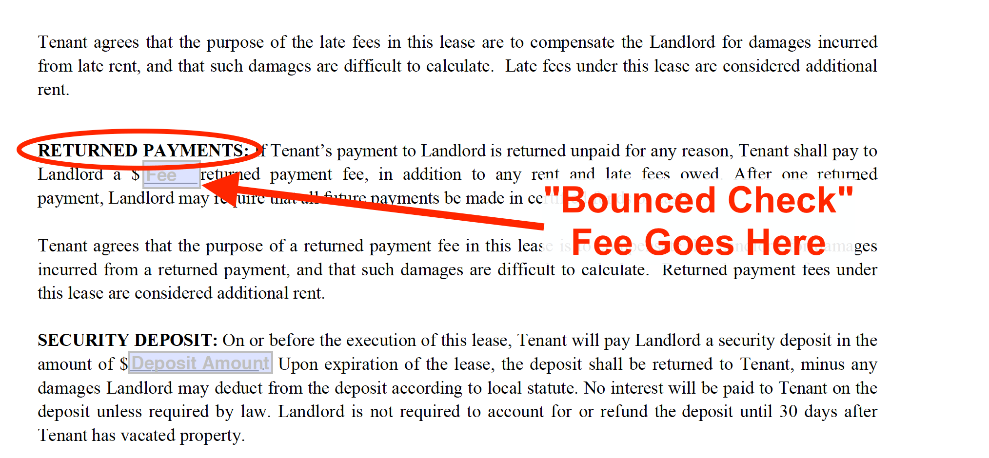 Residential Lease Agreement Free Template Instructions