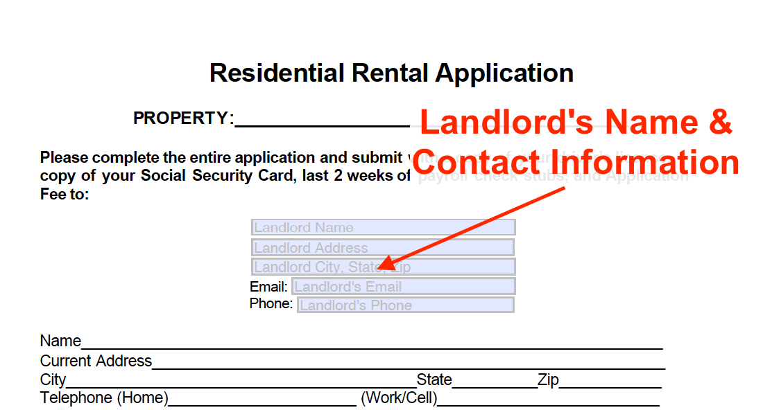 Rental Application Form Free Template How To Guide