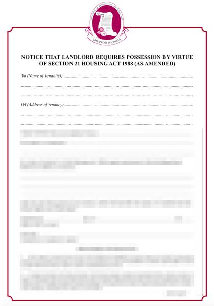 Hybrid Section 21 Notice | GRL Landlord Association