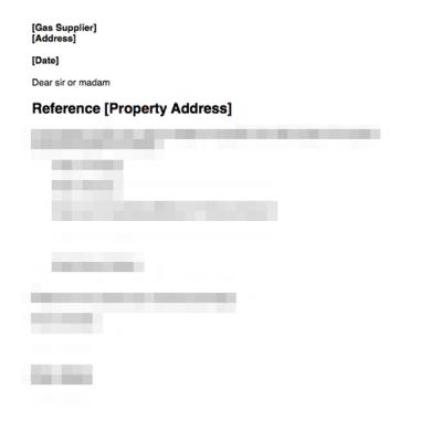 Notify gas company of new tenancy