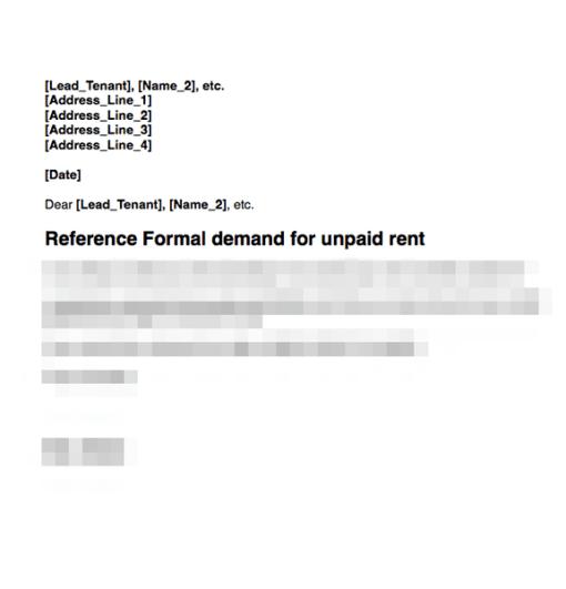 Rent demand first letter