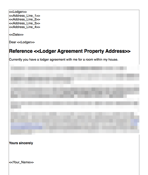 End lodger agreement for breach
