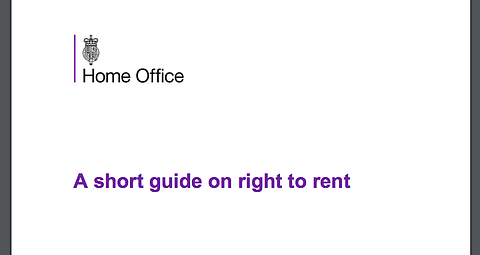 New 'Short' Right To Rent Guidance