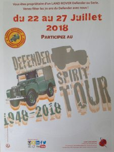 Defender Spirit Tour 2018 @ France>Angleterre