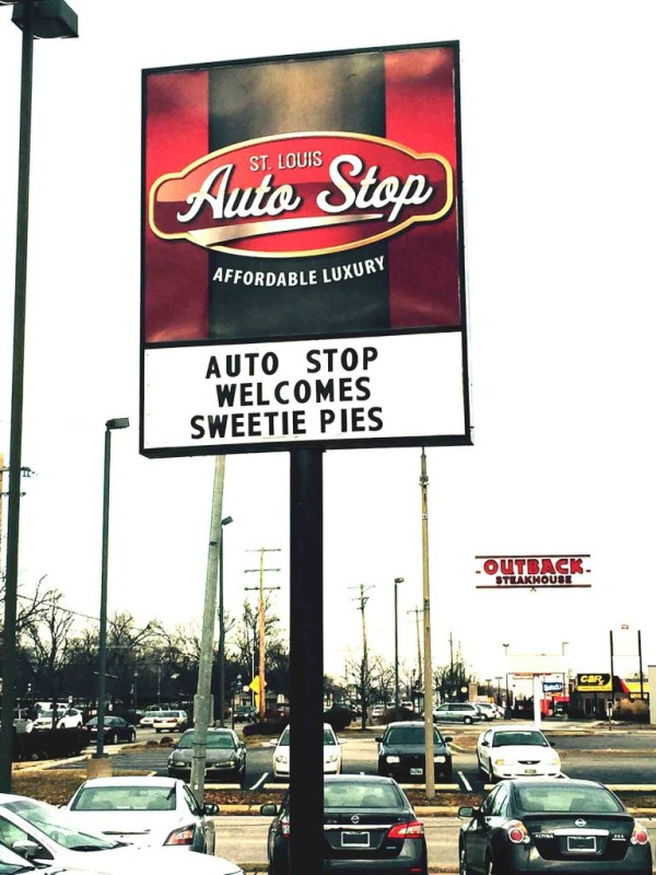 St.Louis AutoStop is located at 7800 North Lindbergh in Hazelwood 63042 (314)830-1067 www.stlouisautostop.com.