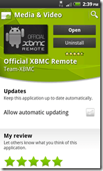 xbmc remote market view