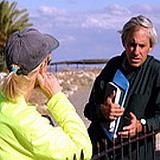 Zack Shavin guiding Paula at Megiddo