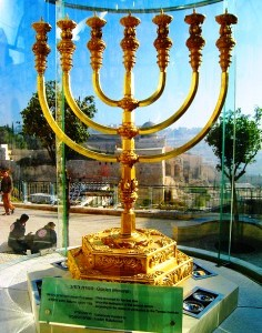 Menorah or Golden Lampstand in Jerusalem