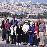 Zack Shavin with pilgrim group from Dothan, Alabama on the Mount of Olives