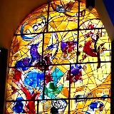 Chagall windows at Hadassah hospital: Tribe of Joseph