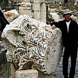 Huge Corinthian capital from Roman Beth Shean (Scythopolis) earthquake in 749 AD
