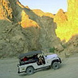 Jeep ride safari in Negev desert near Eilat, Israel