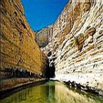 Ein Avdat springs in Nahal Tzin canyon, Negev