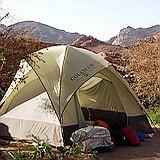 Tent camp in Israel's Negev desert wilderness