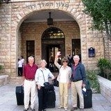 Zack Shavin private tour guests at King David hotel, Jerusalem