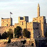 David's Tower & Citadel at Jaffa Gate housing history of Jerusalem museum