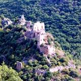 Montfort Crusader castle near Maalot in Galilee, Israel