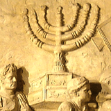 Menorah rekindled by Maccabees after recapture of Temple in Jerusalem from the Greeks (Hannukah)
