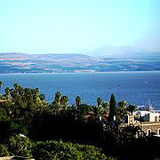 Sea of Galilee view from Tiberias