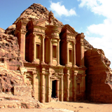 Petra: The Deir or Monastery Mausoleum of Nabatean King Obadas I