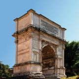 Arch of Titus in Rome celebrating Roman victory over the Jews