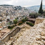 City of David fortifications in Jerusalem
