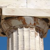 Doric capital from the Parthenon in Athens dedicated to the goddess Athena and built in the 5th century BC