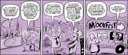 """Purple Pros"" cartoon by Brent Brown"