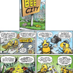 """Bee City #1"" cartoon by Brent Brown"